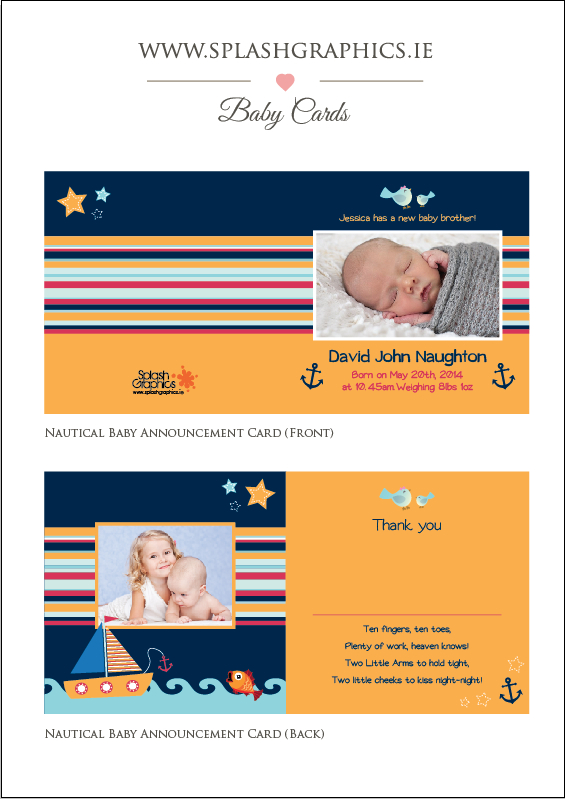 nautical baby announcements