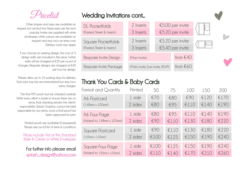 splash graphics wedding stationery